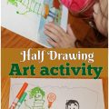 Half Drawing art activity for kids