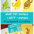 What Pet SHould I Get Inspired Footprint Crafts - Dr. Seuss crafts