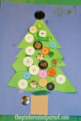 Trim a Tree Christmas Craft With Buttons