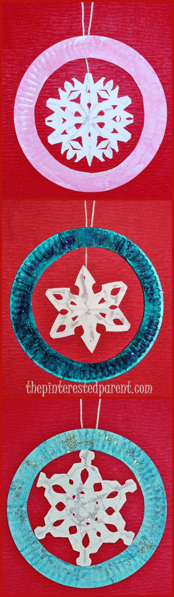Paper plate snowflake ornament crafts fun winter for Winter crafts for children
