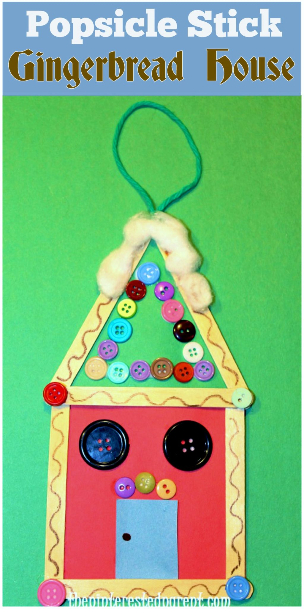 Popsicle stick gingerbread ornament an easy christmas for Fun crafts for all ages