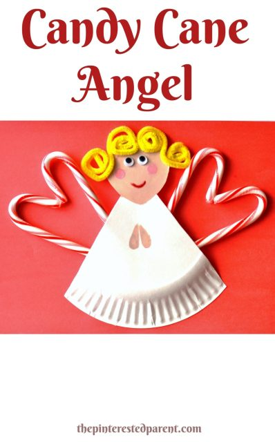 Candy Cane Angel craft. This would make a cute Christmas card with a sweet surprise.