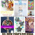 Over 50 ideas for New Year's Eve crafts, activities, recipes, traditions and more for kids.