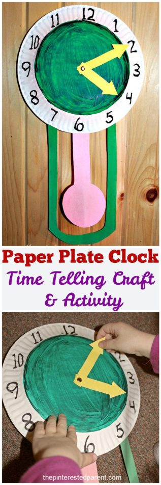 Paper Plate Clock - a time telling craft & activity
