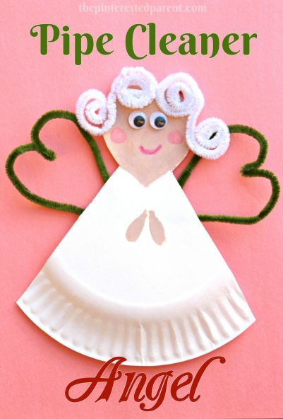 Pipe Cleaner & Paper Plate Angel - a cute Christmas craft for kids
