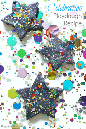 Celebration Playdough Recipe from Buggy and Buddy