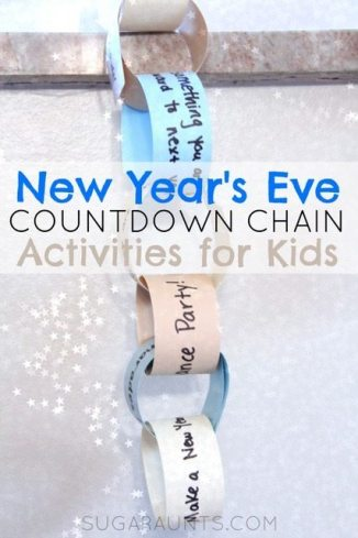New Year's Eve Countdown Chain from Sugar Aunts