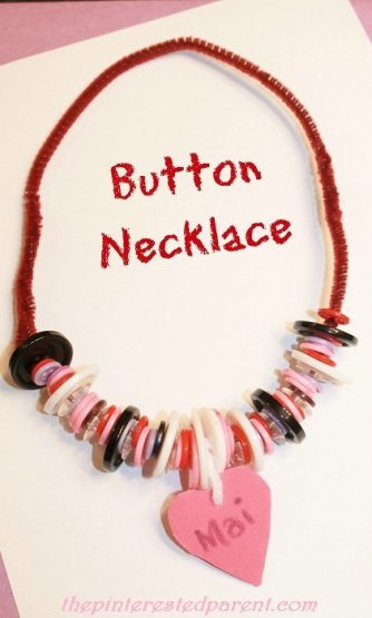 Threading buttons to make necklaces & bracelets. Great fine motor activity & craft and a great way to teach patterns as well