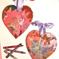 Melted Crayon Hearts. Process art & craft for kids perfect for Valentine's Day
