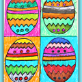 Andy Warhol Inspired Easter arts & crafts projects for kids with free printables for coloring or painting
