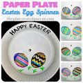 Paper plate Easter Egg craft - spin & change your designs
