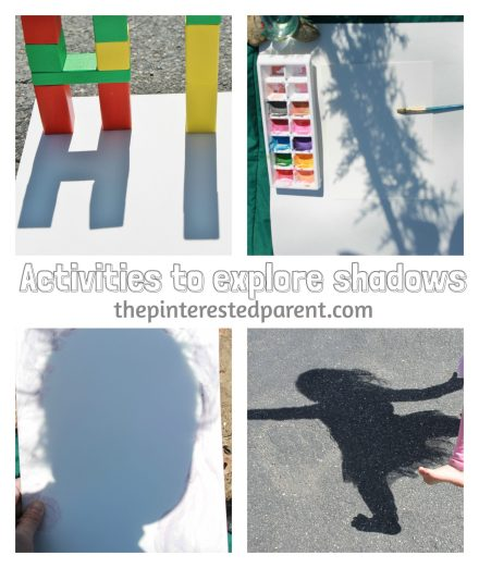 Exploring shadow & light with blocks, bodies & nature painting. These are wonderful spring & summer activities that you can do with your kids while exploring shadow & light outdoors