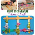 Popsicle stick nature craft for kids - pretty spring or summer arts & craft project.
