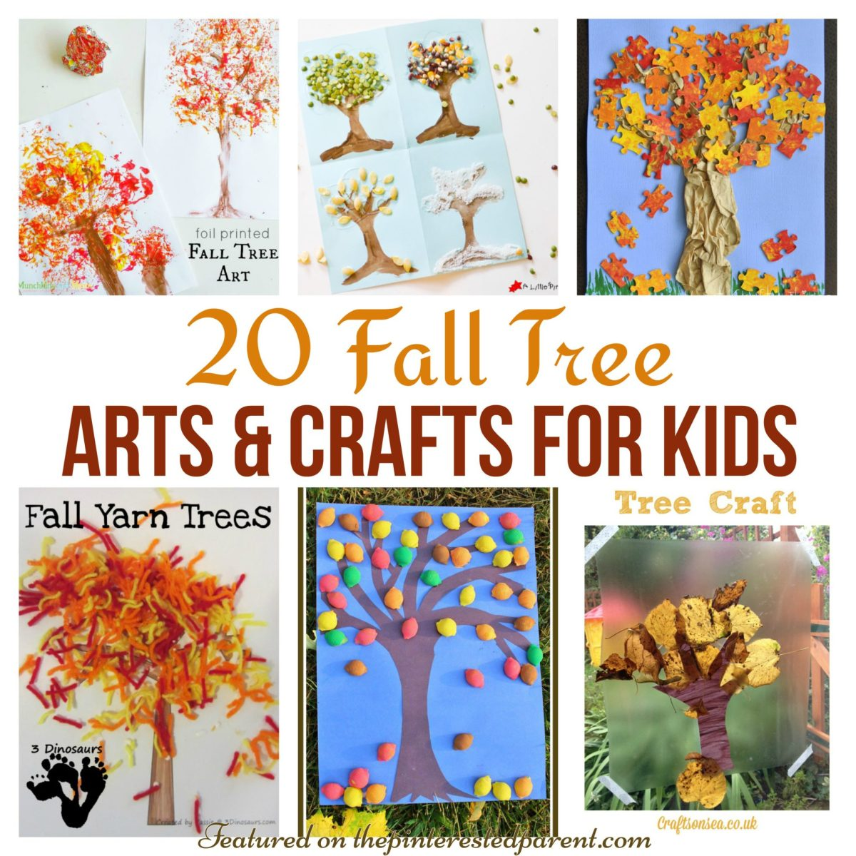 20 Fall Tree Arts & Crafts Ideas For Kids