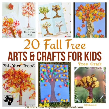 20 Beautiful Fall Tree Arts & Crafts Ideas for kids - Autumn crafts for preschoolers