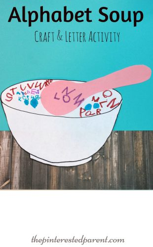Alphabet Soup Craft & Letter Writing Activity For Kids - a fun way to practice writing their ABC's