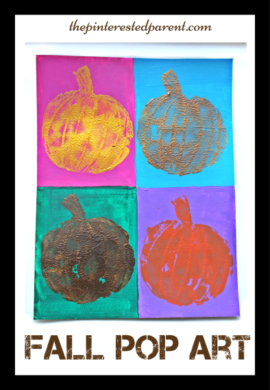 Andy Warhol inspired pumpkin pop art painting. Fall arts & crafts for the kids.