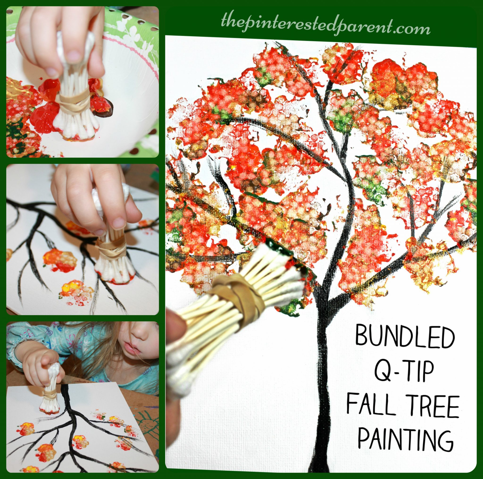 Bundled q tip autumn tree the pinterested parent for Plexiglass arts and crafts