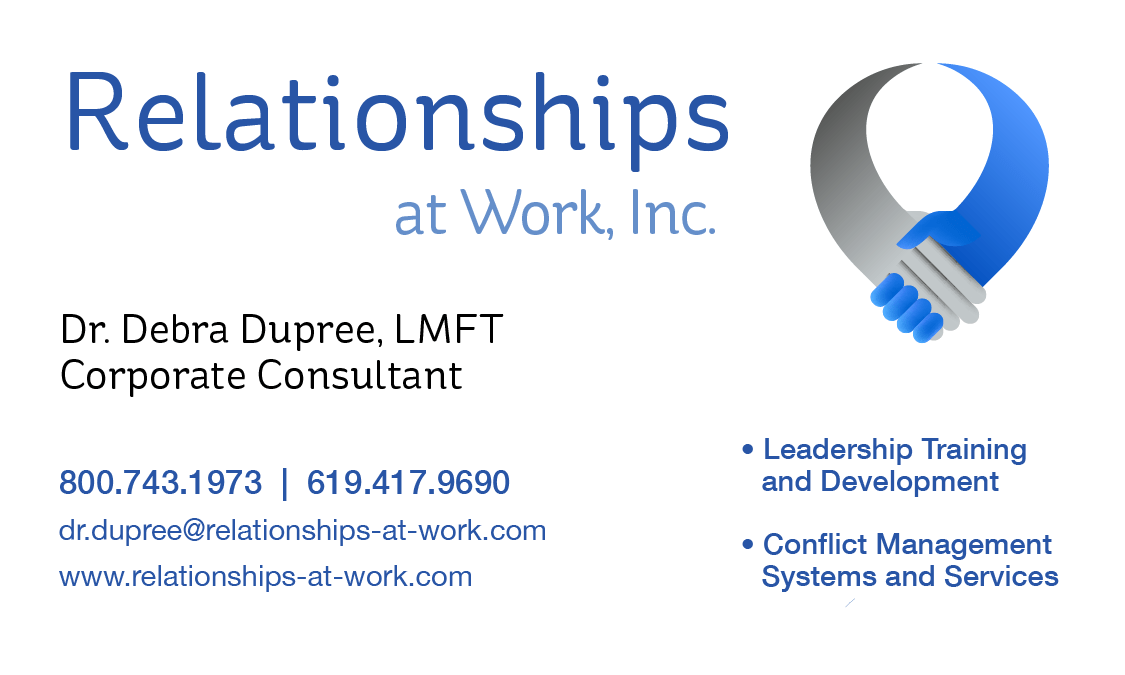 Logo and Business Card Design for Relationships at Work, Inc ...