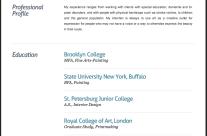 Resume Website for Donna Davis, Art Therapist