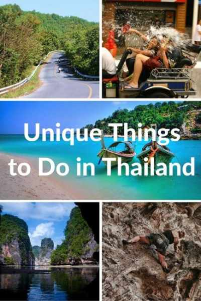 Five Unique Things to do in Thailand