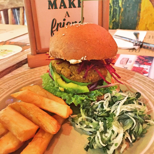down to earth vegan burger