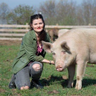 Rachel McCrystal from the Woodstock Farm Sanctuary