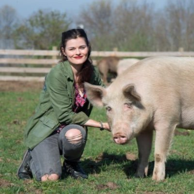 Rachel McCrystal from the Woodstock Farm Sanctuary
