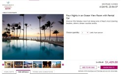 Marriott Wailea Beach 4 Day Package for Two for $1,429 on Ruelala.com