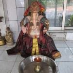 A statue of Ganesh at the Grand Bassin Hindu temple