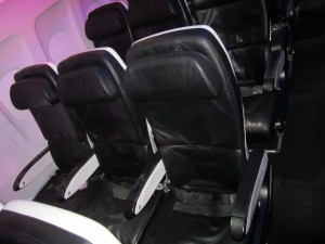A row of regular Main Cabin seats.