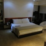 The king bedroom of my corner suite at Le Meridien Bangkok. Love the low lighting.