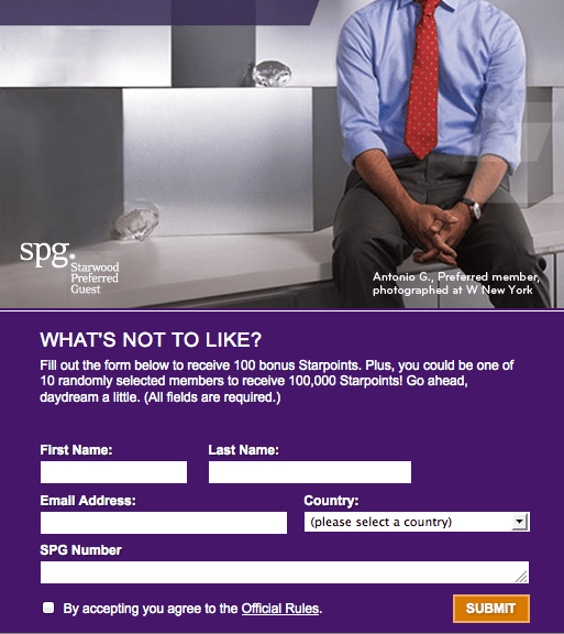 100 Free Starwood Preferred Guest PointsThe Points Guy