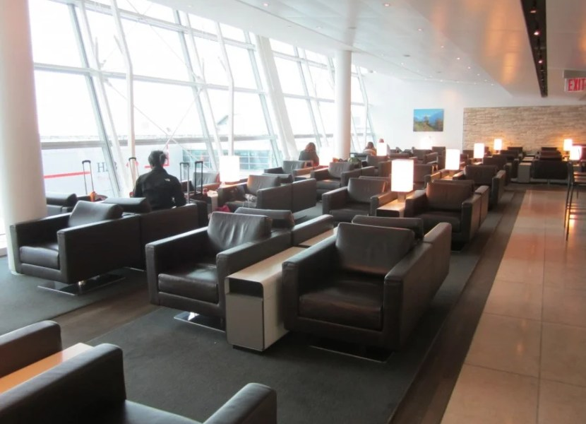 Lounge area at JFK.