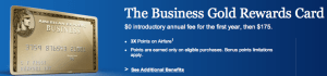 Earn triple points on airfare with the Business Gold Rewards Card.