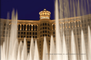 The Bellagio and its famous fountains in full swing.