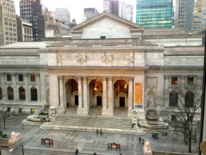 The New York Public Library sat right outside the bedroom window.