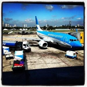 Aerolineas plane