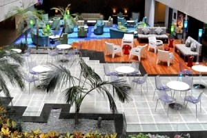The Lobby Mezaninne at the Radisson Hotel Flamingos