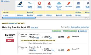 LA to London on Iberia vis Orbitz 11:11:2013,106.10.