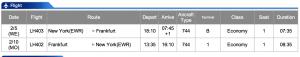 Lufthansa EWR-FRA Business Class Feb 5 - Feb 10