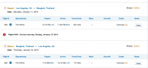 LAX-BKK on Thai for 80,000 miles.