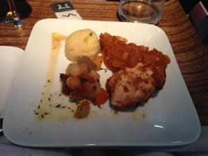 Chicken dish for lunch on my return KEF-JFK.