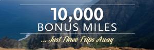 Earn up to 10,000 Alaskan Airlines bonus miles on 3 flights.