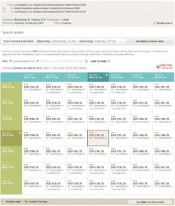 LAX to Dubai on a Saver ticket.