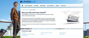 Score award tickets up to half off with Flying Blue Promo Awards.