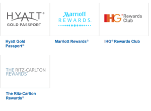 Chase has four great hotel partners.