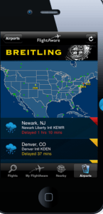 Check for delays with Flight Aware.