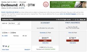 Delta ATL DTW