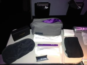 The amenity kit.